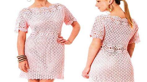 vestidos de mujer tejidos  crochet  ganchillo los mejores disenos youtube