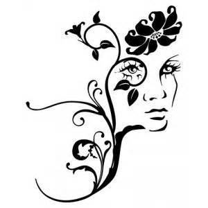 natures face stencil decor ideas pinterest