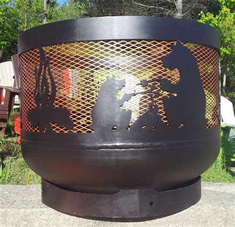 diy pit with propane tank wood burning muskoka pit 30 quot diameter made out of