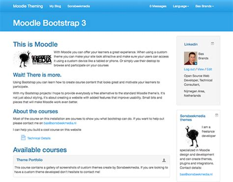 moodle theme version basbrands nl
