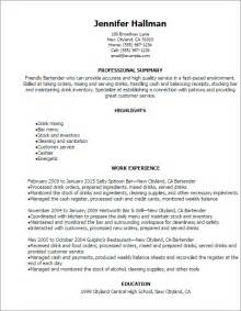 bartending resume templates professional bartender resume templates to showcase your