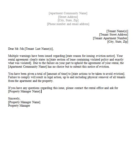 termination letter template without notice sle termination letter without cause sle