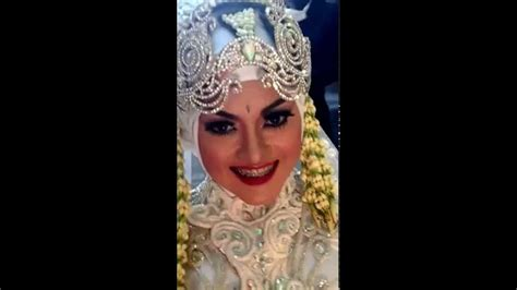 tutorial hijab pengantin modifikasi pengantin modifikasi sunda siger hijab by ine youtube