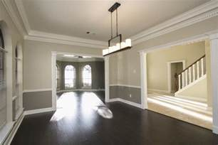 Chair Rails In Living Rooms Two Tone Wall With Chair Rail And Hardwood Dining Room Basment Lift