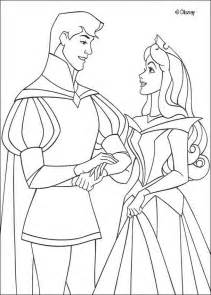 sleeping beauty coloring pages princess wedding