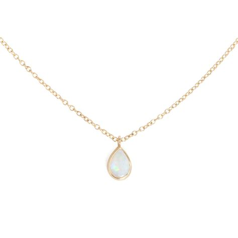 Opal Drop Necklace catbird opal teardrop necklace