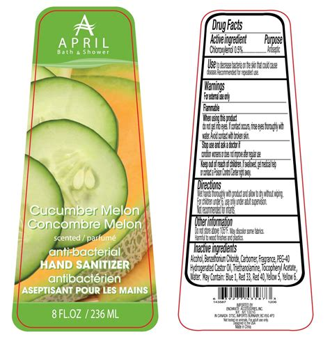april bath and shower products april bath and shower cucumber melon scented