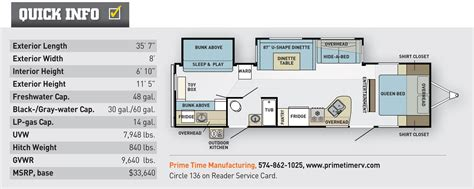 Lacrosse Rv Floor Plans by Fit For Prime Time