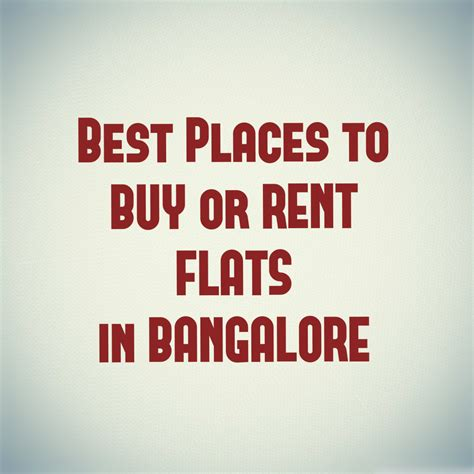 best place to buy house in bangalore real estate archives quikr blog