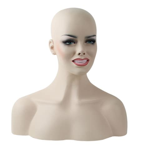 realistic mannequin heads aliexpress com buy smailing realistic fiberglass female