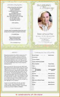 Free Funeral Program Template by Doc 1045791 Sle Free Funeral Program Template