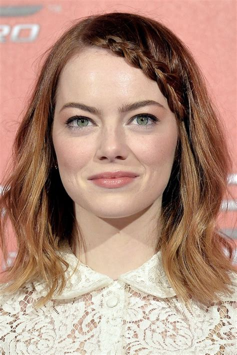 emma stone forehead celebs with plaits and braids glamour south africa