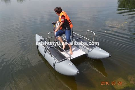 inflatable pontoon work boat hot ce 10ft inflatable pontoon boat for fishing buy