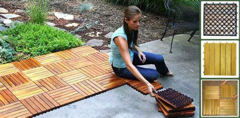 Snap Together Deck Tiles by Acacia Hardwood Snap Together Wood Deck Tile