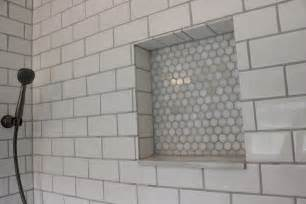 Wainscoting Shelf White Subway Tile Shower 12 Oaks