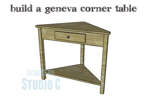 diy plans to build a geneva corner table