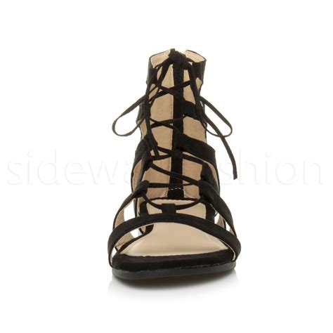 ankle tie sandals womens flat lace up strappy ankle tie gladiator