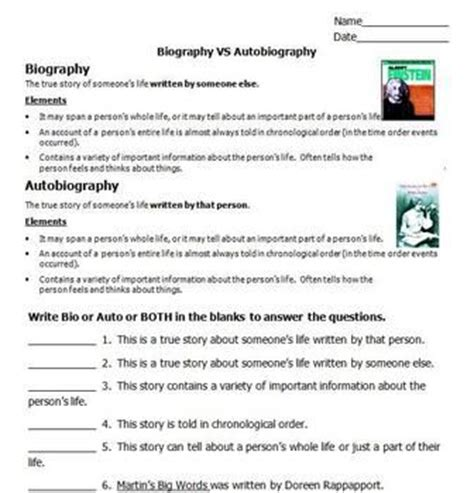 biography and autobiography compare and contrast free do your kids confuse biography and autobiography