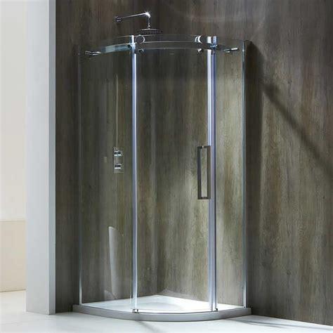 Aqua Glass Shower Doors Aquaglass Frameless 8mm 1 Door Offset Quadrant Shower Enclosure Sanctuary Bathrooms