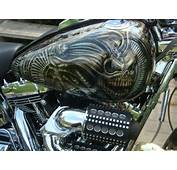 Harley Davidson Tank Giger Skull Design  JustAirbrush