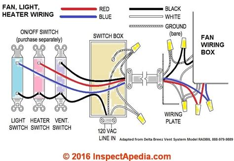 nutone bathroom fan wiring diagram wiring diagram and