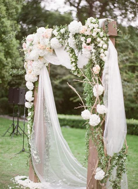 Wedding Arbor With Tulle by 36 Gorgeous Wedding Florals Tips To Decor