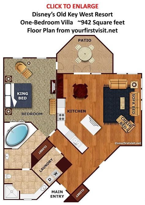 disney treehouse villas floor plan the living dining kitchen space at disney s old key west