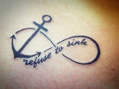 refuse to sink tattoo 1000 ideas about anchor infinity tattoos on