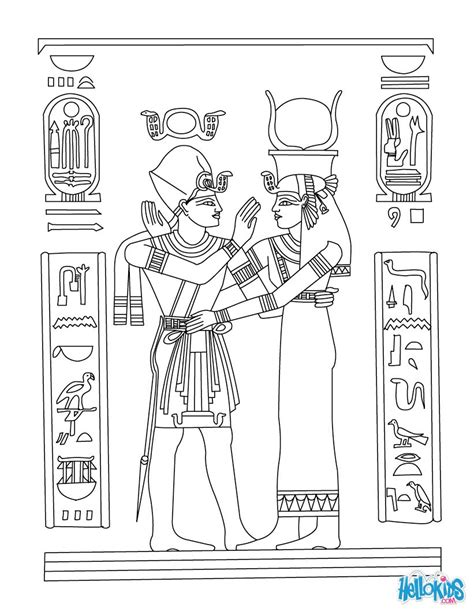 ancient egypt coloring pages to print ancient egypt papyrus online coloring pages hellokids com