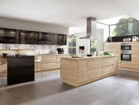 cuisine avec ilot central en bois d inspiration