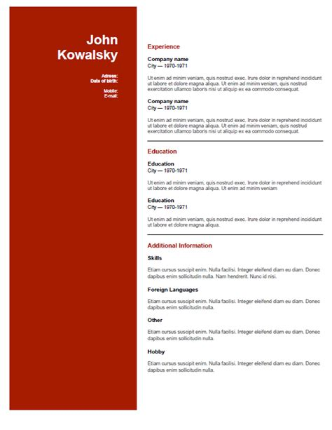 Best Resume Creator Online by Free Resume Templates