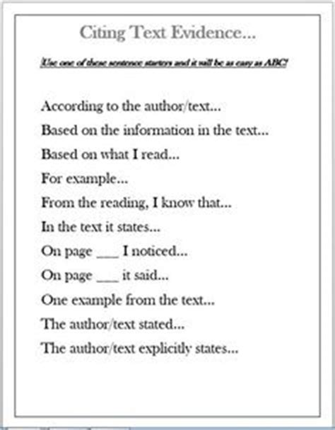 assertion and support text evidence worksheet - Citing Textual Evidence Worksheet
