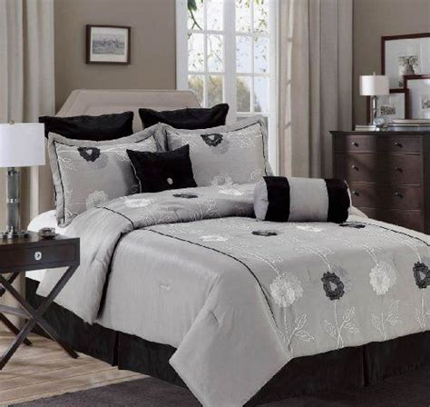 8 King Comforter Set Silver 8 Comforter Set And King Size Many Colors Available Silver Black By
