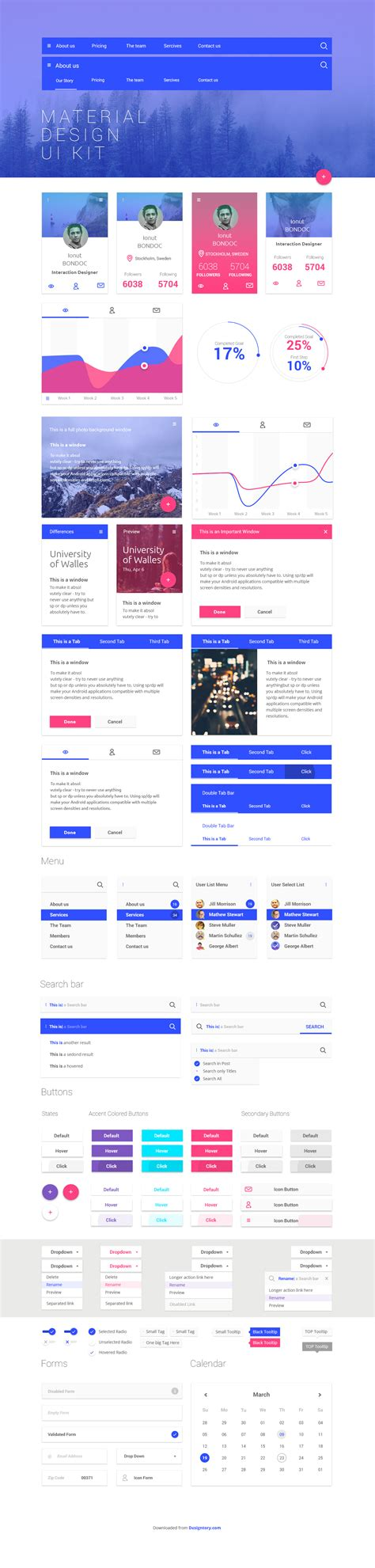 google design ui kit free material design ui kit designtory
