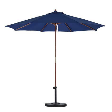 California Umbrella 9 ft. Wood Pulley Open Patio Umbrella