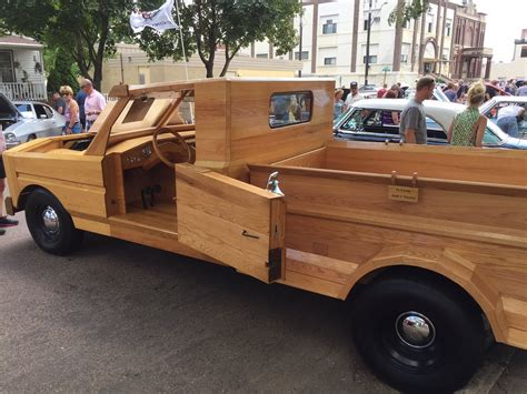 make all from wood crazy cool all wood truck hand built in garage automotive