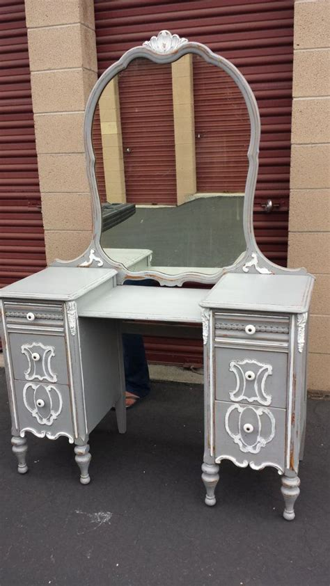 Grey Vanity Table Vintage Provincial Gray Vanity Desk By Woodremains On Etsy Interior Design Pinterest