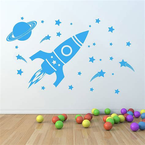 children wall sticker children s space set wall sticker by oakdene designs