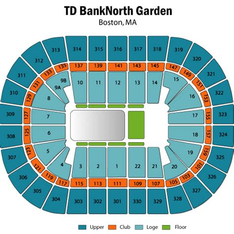 Td Garden Seating Chart Concert corapi august 06 tickets boston td garden