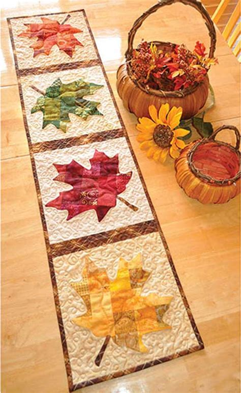 Patchwork Table Runner Pattern - patchwork pumpkin quilted table runner pattern