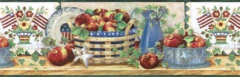 apple wallpaper kitchen americana flag apple kitchen wallpaper border ff1102 3