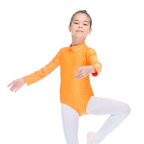 Balet Import All Size ballet leotard gymnastics high neck sleeve lycra all sizes ebay
