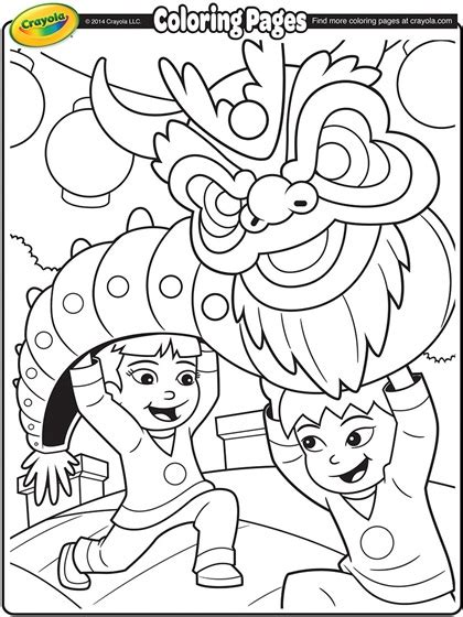 preschool coloring pages chinese new year chinese new year dragon coloring page crayola com