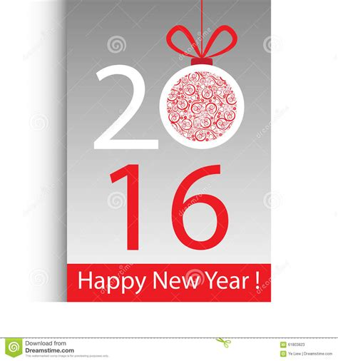 new year card background happy new year 2016 stock vector illustration of