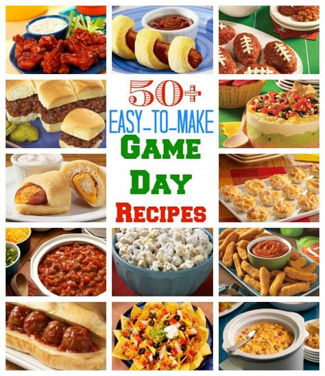 easy day recipes 50 easy to make day recipes tailgate time