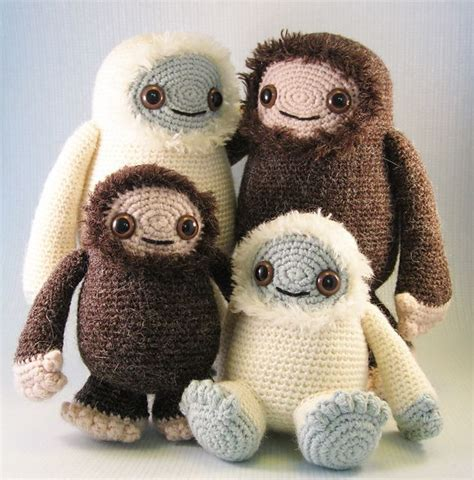 yeti doll pattern yeti and bigfoot amigurumi pattern by lucy collin the o