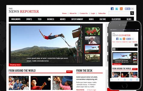 bootstrap templates for news portal the new reporter flat bootstrap responsive free download
