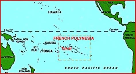 polynesia on world map tahiti