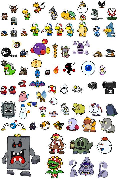 Paper Mario Sticker Enemy Stickers