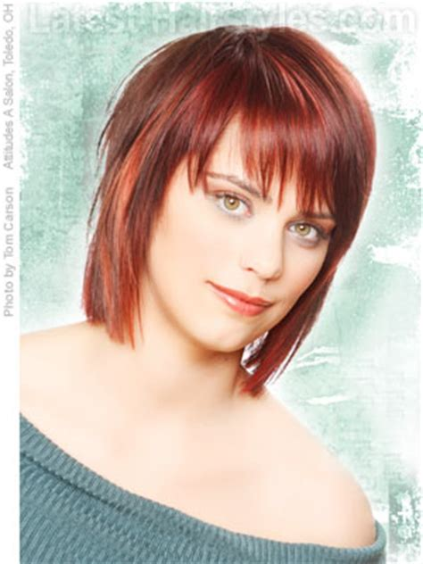 ladies choppy hairstyles with a fringe choppy layered hair with fringe squared medium length